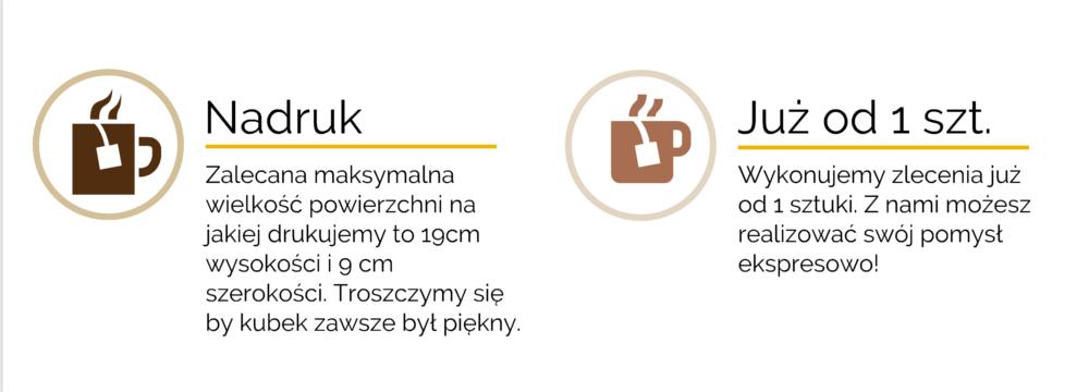 nadruk na kubkach sublimacja Kraków Adama Chmiela